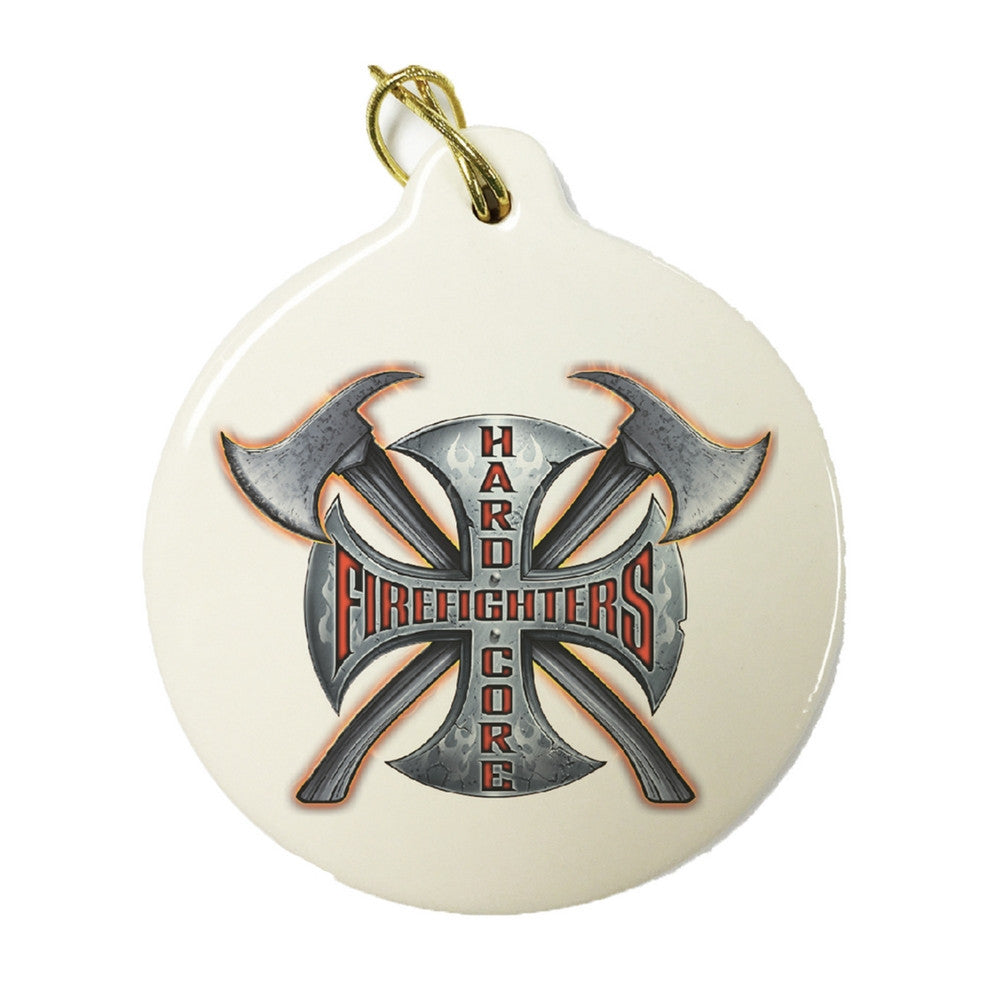 Hardcore Firefighter Christmas Ornament-Military Republic