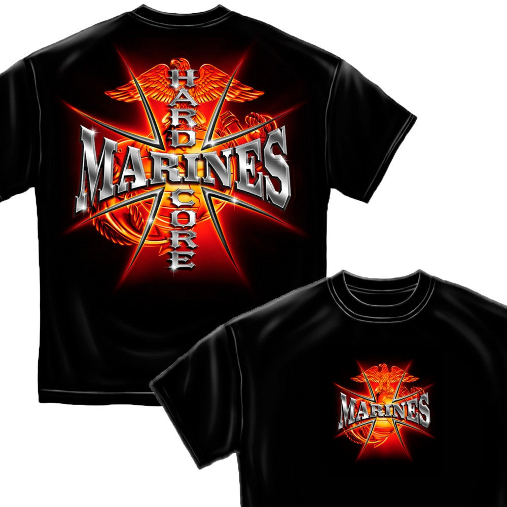 Hardcore Marines T-Shirt-Military Republic