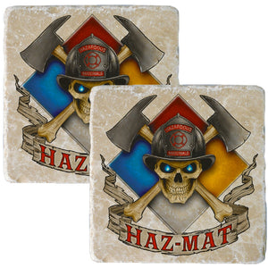 Haz Mat Firefighter Coaster-Military Republic