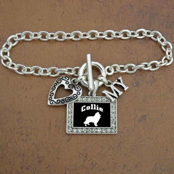 Heart my Collie Dog Bracelet
