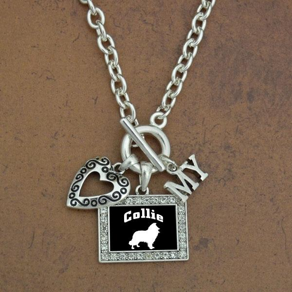 Heart my Collie Dog Necklace