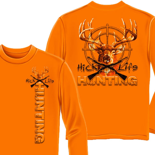 Hick Life Hunting Long Sleeve Shirt-Military Republic