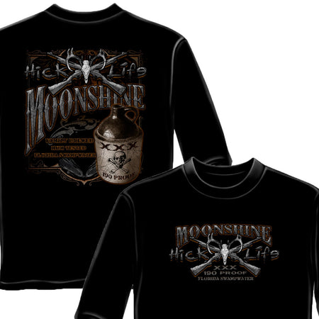 Hick Life Moonshine Long Sleeve Shirt-Military Republic