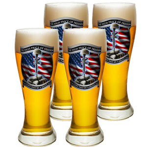 High Price Of Freedom Pilsner Glass Set-Military Republic