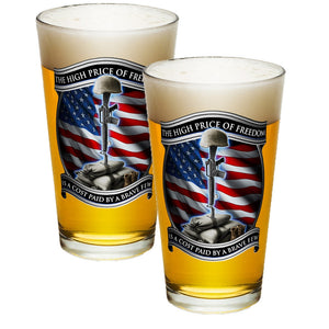 High Price Of Freedom Pint Glasses-Military Republic