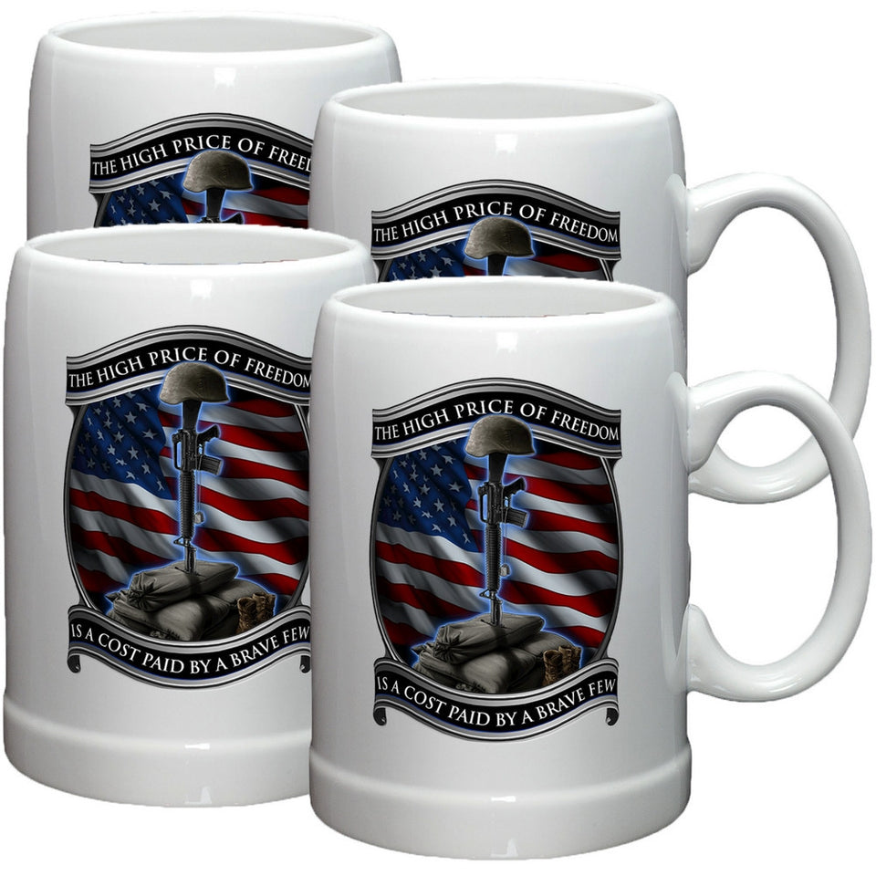 High Price Of Freedom Stoneware Mug Set-Military Republic