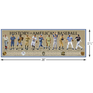 History of the American Baseball - Poster