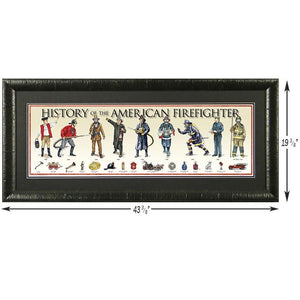 History of the American Firefighter - Framed Poster
