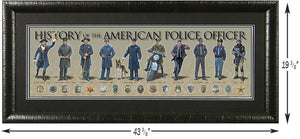 History of the Police Officer - Framed Poster-Military Republic