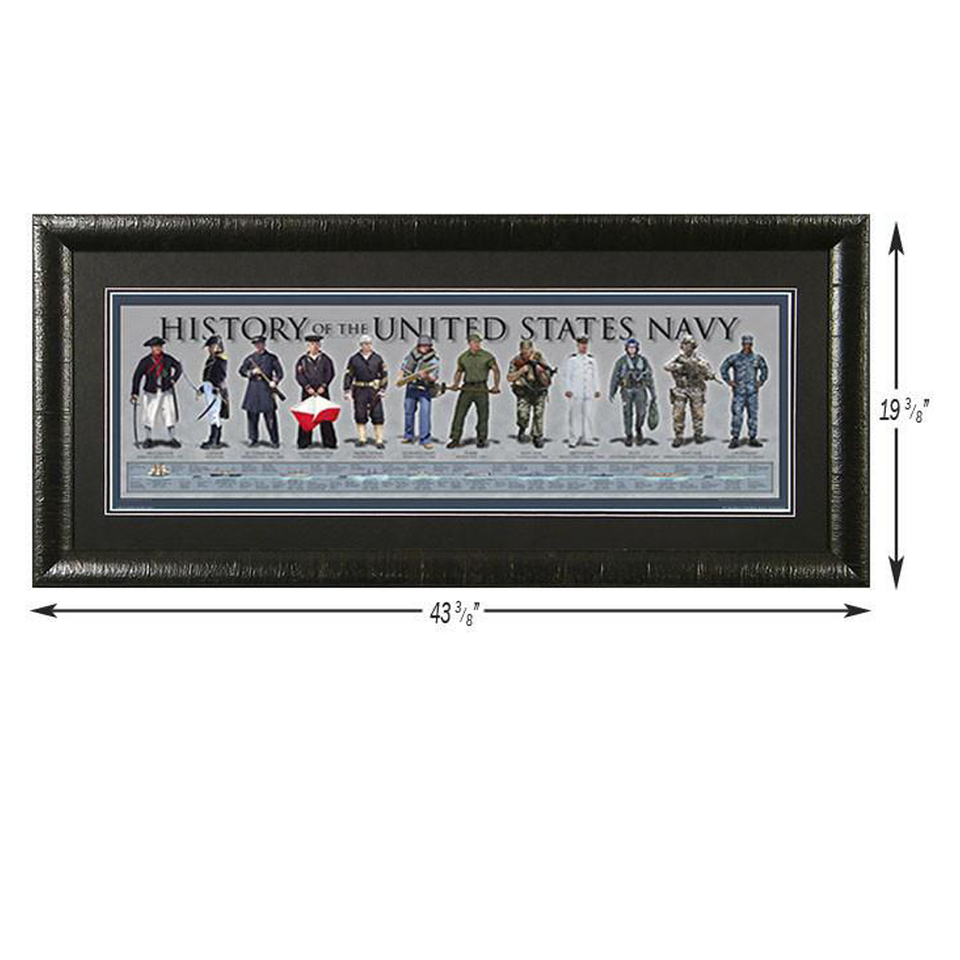 History of the US Navy - Framed Poster