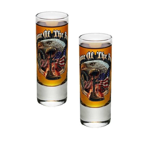 Home Of The Free Because Of The Brave Shot Glasses-Military Republic