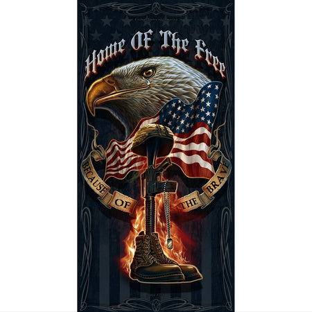 Home Of The Free - Because Of The Brave Towel-Military Republic