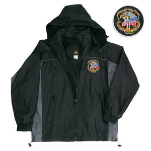 Home Of The Free - Because Of The Brave Windbreaker Jacket-Military Republic