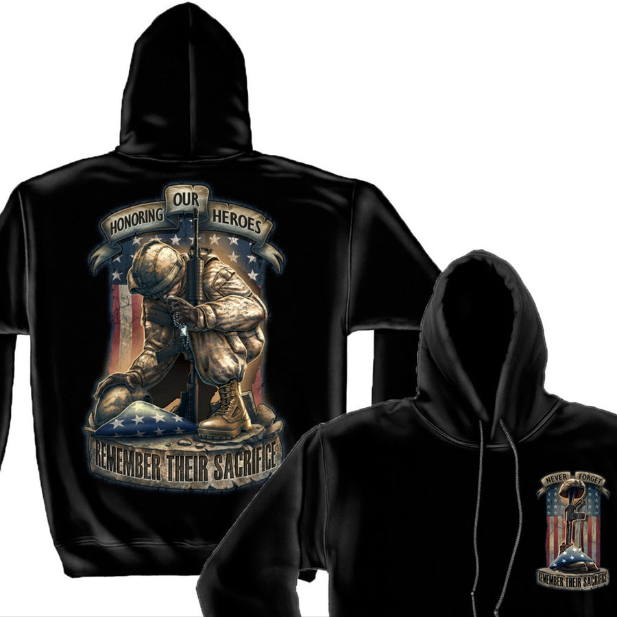 Honor Our Heroes Hoodie-Military Republic