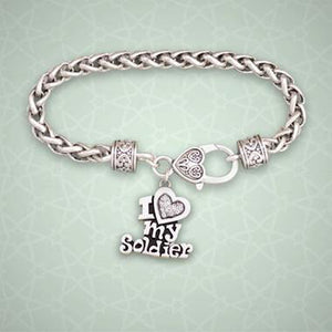 I Love my Soldier Braided Clasp Bracelet-Military Republic