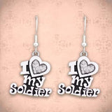 I Love My Soldier Earrings