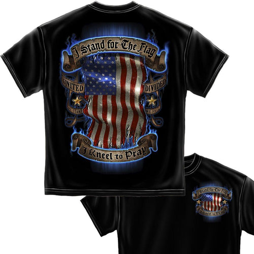 I Stand For The Flag - Kneel to Pray T Shirt-Military Republic