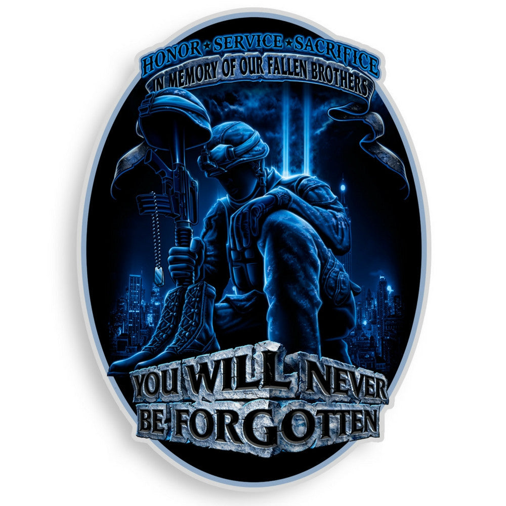In Memory Of Our Fallen Brothers Decal-Claris Deals