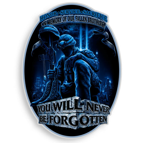 In Memory Of Our Fallen Brothers Decal-Military Republic