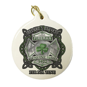 Ireland's Bravest Fireman Christmas Ornament-Military Republic