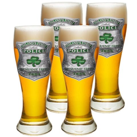 Ireland's Finest Police Pilsner Glass Set-Military Republic