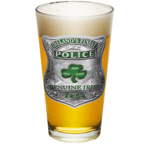 Ireland's Finest Police Pint Glasses-Military Republic