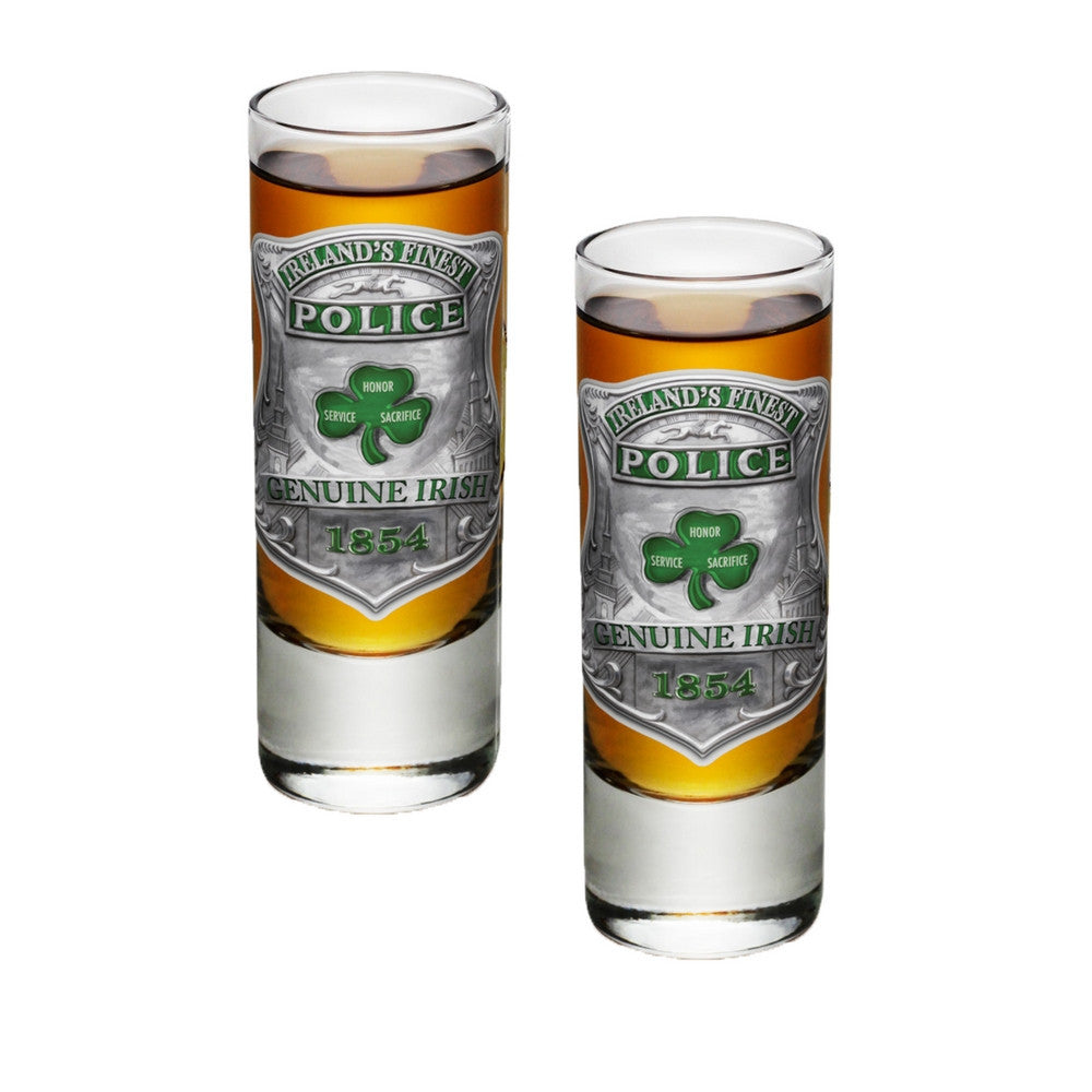 Ireland's Finest Police Shot Glasses-Military Republic