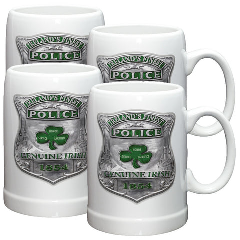 Ireland's Finest Police Stoneware Mug Set-Military Republic