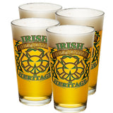 Irish Firefighter Heritage Badge Pint Glasses-Military Republic