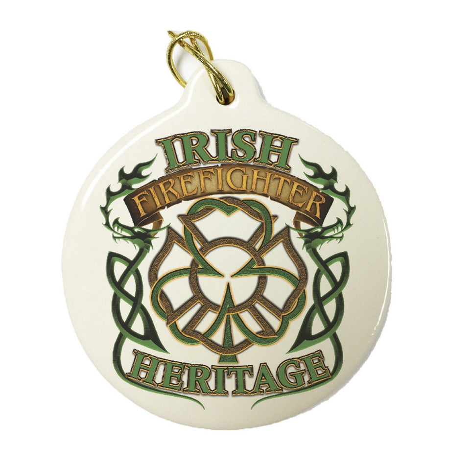 Irish Firefighter Heritage Christmas Ornament-Military Republic