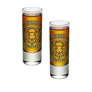 Irish Firefighter Heritage Shot Glasses-Military Republic
