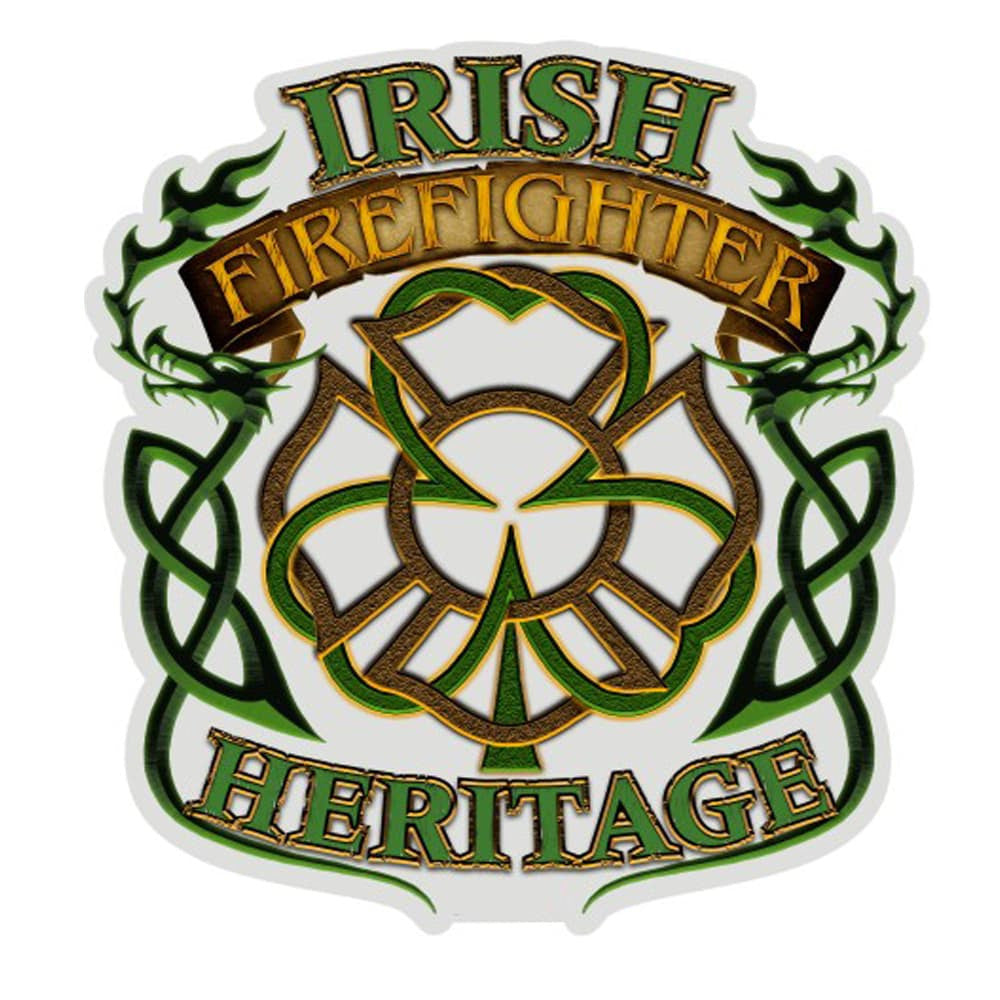 Irish Heritage Firefighter Decal-Military Republic