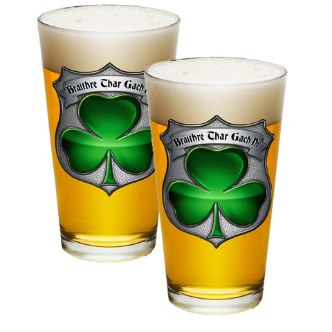Irish Police Pint Glasses-Military Republic