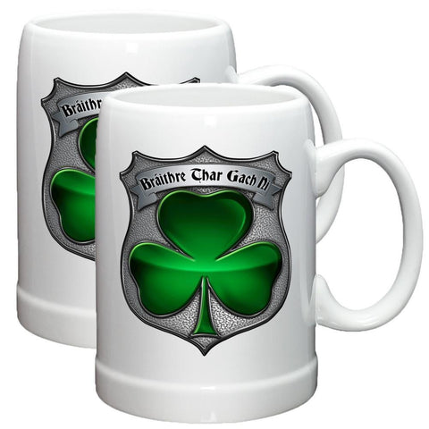 Irish Police Stoneware Mug Set-Military Republic