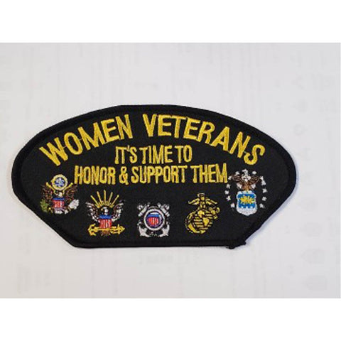 It's Time to Honor... Women Veterans Patch (5 1/4 inch)
