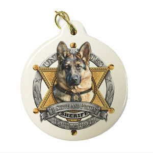 K9 Dog Christmas Ornament-Military Republic