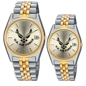 Ladies and Men's Set of US Air Force Stainless Steel Wrist Watch-Military Republic