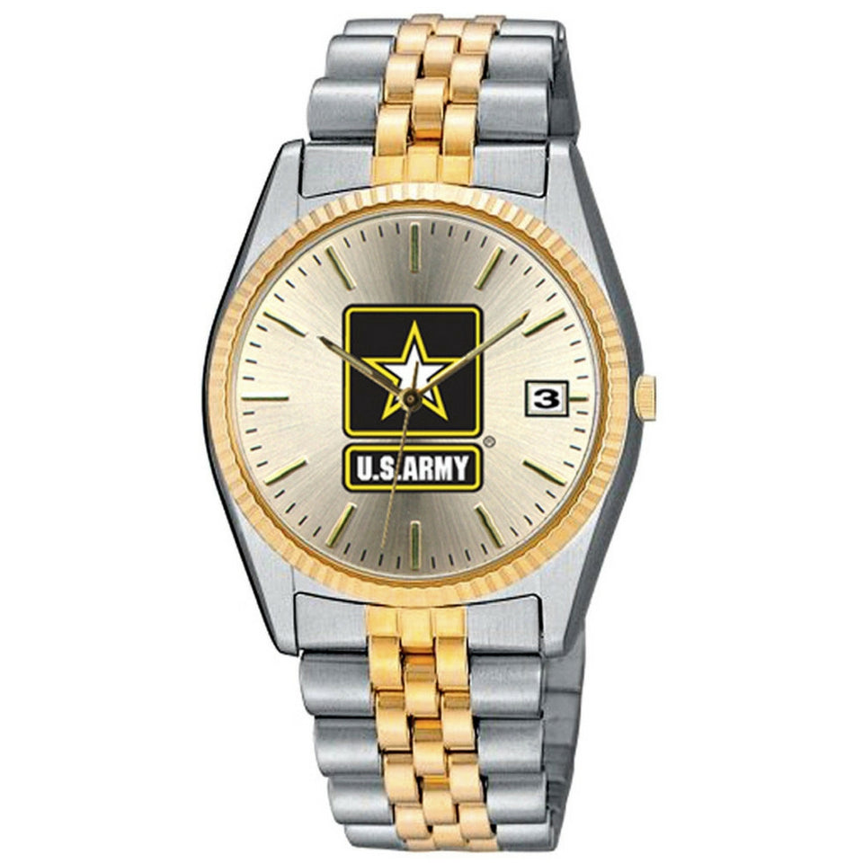 Ladies and Men's Set of US Army Stainless Steel Wrist Watch-Military Republic