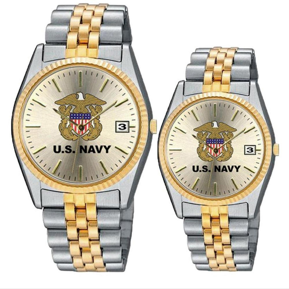 Ladies US Navy Stainless Steel Wrist Watch-Military Republic