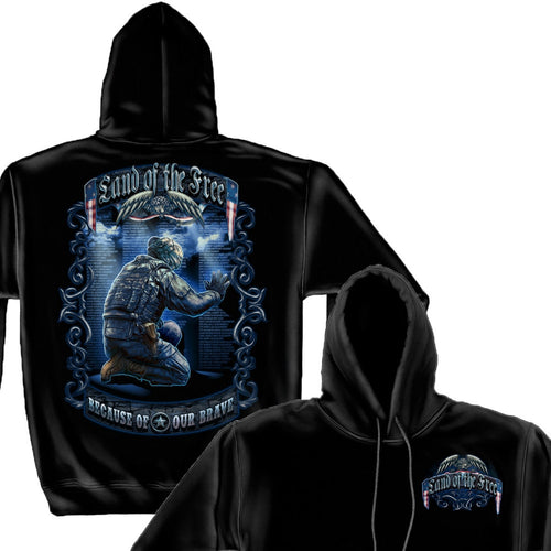 Land Of The Free Wall Hoodie-Military Republic