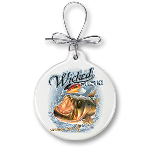 Large Mouth Bass Fishing Christmas Ornament