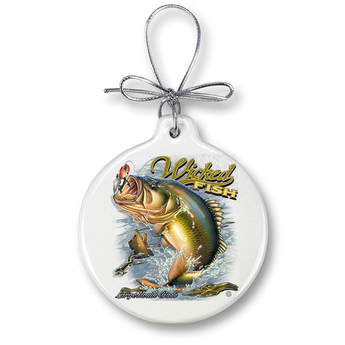 Large-mouth Bass Fishing Christmas Ornament