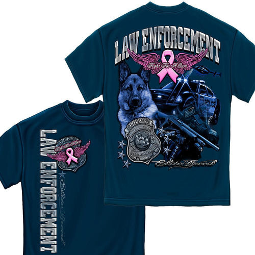 Law Enforcement Elite Breed- Cancer Awareness T-Shirt-Military Republic