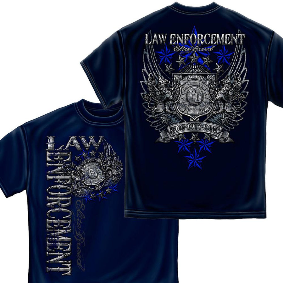Law Enforcement Elite Breed Law Foil T-Shirt-Military Republic