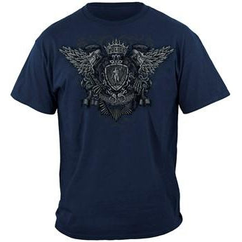Law Enforcement Skull Wings T-shirt