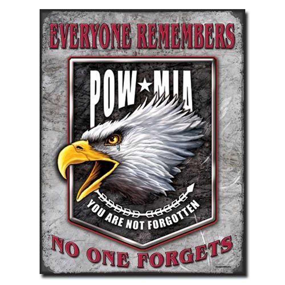 Legends - POW MIA Eagle Tin Sign-Military Republic