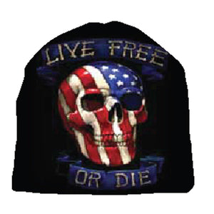 Live Free or Die Beanie-Military Republic