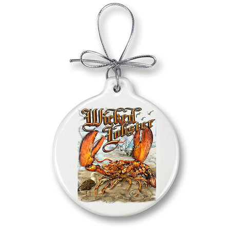 Lobster Fishing Christmas Ornament