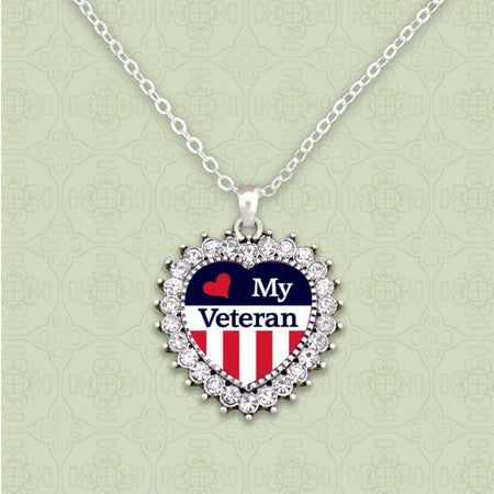 Love My Veteran Necklace-Military Republic