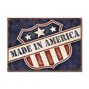 Made in America Tin Sign-Military Republic